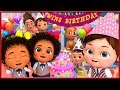 Twins Baby Happy Birthday Songs    Banana Cartoons [HD]
