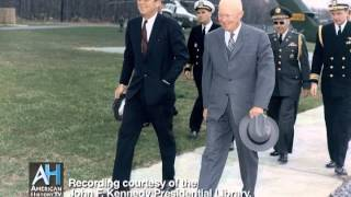 President Kennedy speaks with President Eisenhower, October 22, 1962