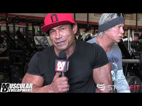 Danny Hester Trains Chest with Mickey Rourke  1 Week Out