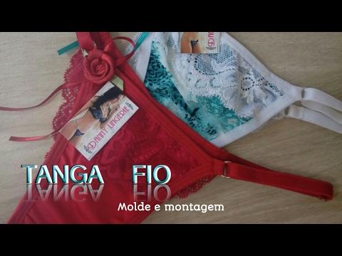 2369ed2aa Tanga fio ( Molde e montagem ). Danny Lingerie