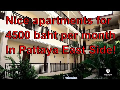 Cheap Apartment East Pattaya For 4500 Baht Per Month That's $146usd
