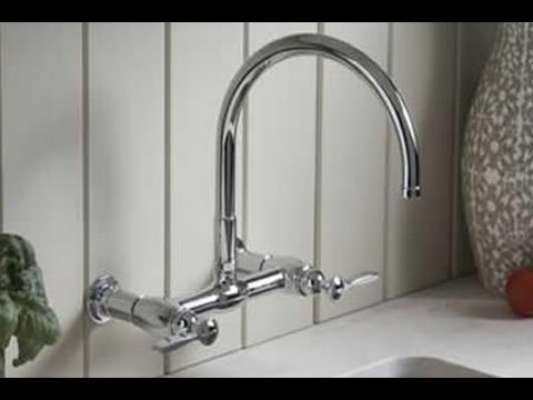 Kohler Wall Mount Kitchen Faucet - YouTube
