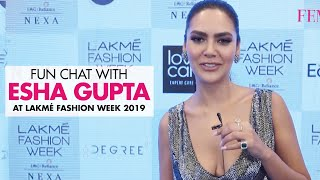 Esha Gupta Interview on different type of Lingeries at Lakme Fashion Week | Esha Gupta at LFW 2019