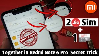 Xiaomi Redmi Note 6 Pro How to Insert Dual SIM Card and SD Card Hybrid Solution