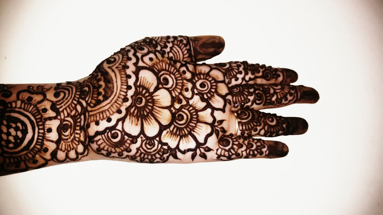 Mehndi Designs Simple Full Hand : Easy mehndi design for full hand makedes