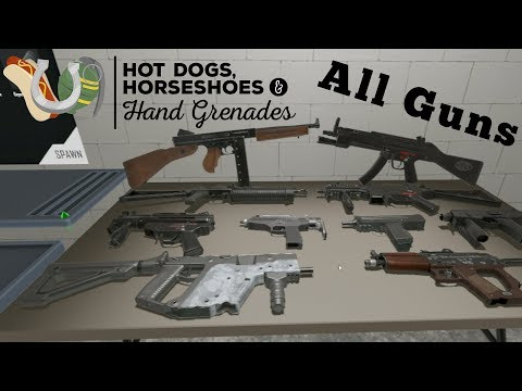 All Guns - Submachine Guns - Hot Dogs Horseshoes and Hand Grenades Gameplay - HTC VIVE | VR