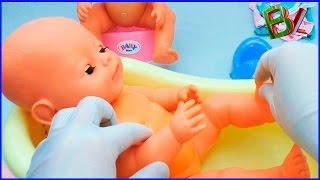 Ухаживать за Куклой Беби Бон как Мама Кормим и Купаем пупсиков
