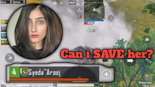 Can i Save her from enemies | PUBG Mobile |