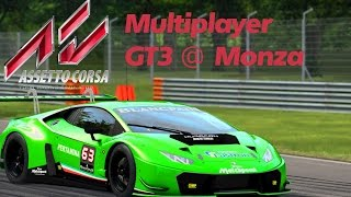 Assetto Corsa PS4 Gameplay Deutsch Multiplayer GT3 @ Monza