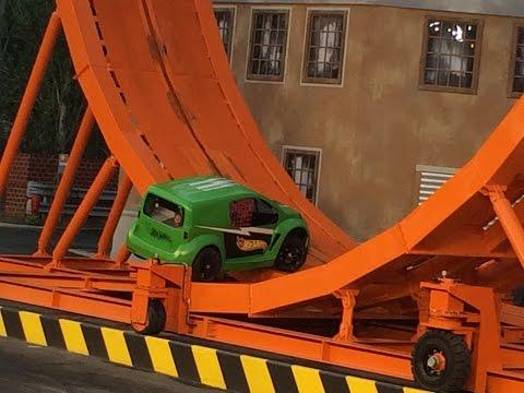 Mirabilandia LOOP INCIDENTE - Grosso Guaio a Stunt City ( Hot Wheels Stunt Show - Crash )