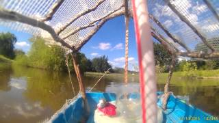 GoPro catches homemade boat sink.