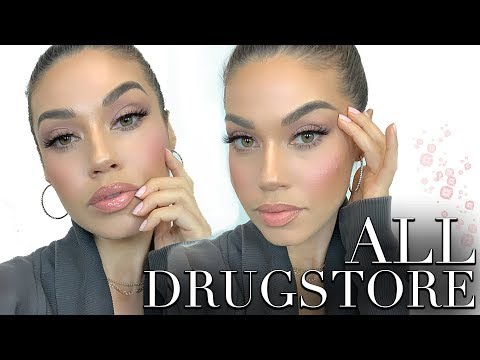ALL DRUGSTORE MAKEUP TUTORIAL | Testing New Drugstore Makeup | Eman thumbnail