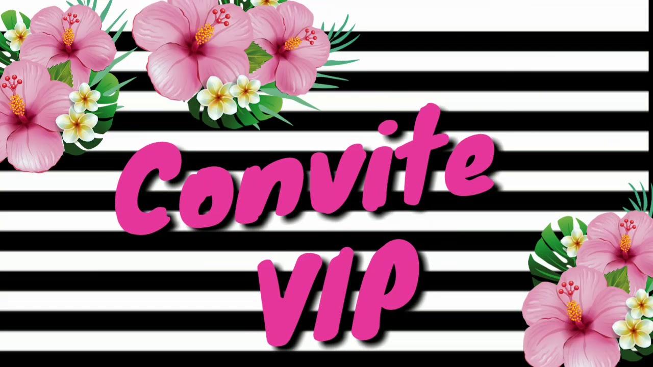 Convite Animado Festa Tropicalflamingo Festa De Adulto Youtube