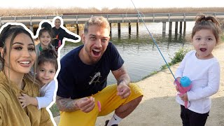 SERENITY GOES FISHING FOR THE FIRST TIME!! **cutest ever**