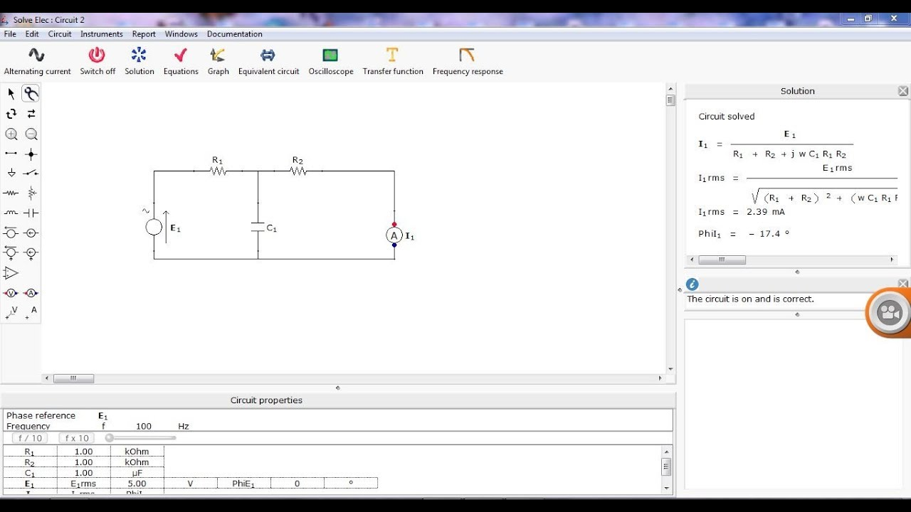 Basic Electrical Circuit Solution using Solve Elec Software in hindi