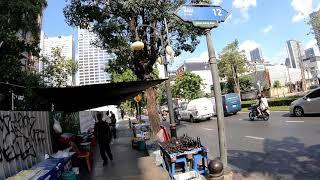 Walking in Bangkok, Thailand   Si Lom Road, Lumphini Park Series Part 6