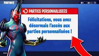 COMMENT JOUER *FACILEMENT* en PARTIE PERSONNALISÉE sur FORTNITE: Battle Royale !