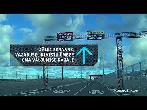Videoteekond: Kuidas jõuda sõiduautoga laevale Tallinna Vanasadama A-terminalis