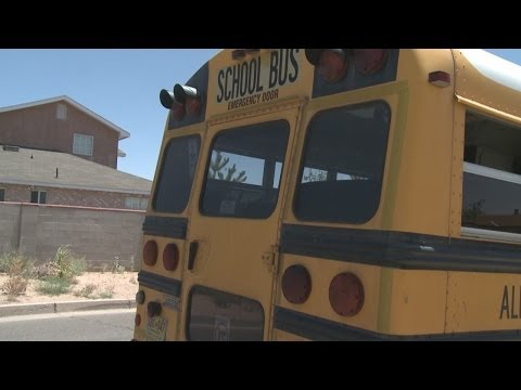 Children jump out of back of bus after fight