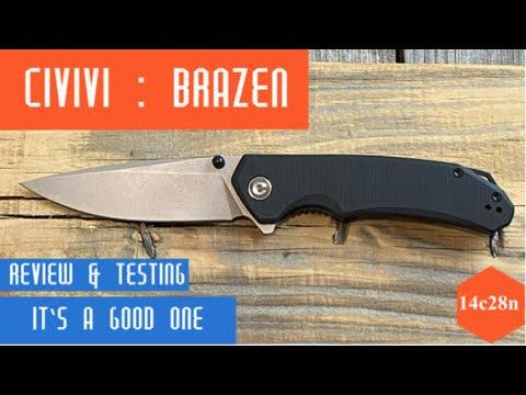 Civivi Brazen Drop Point/It Preformed Great/Full Review #edc