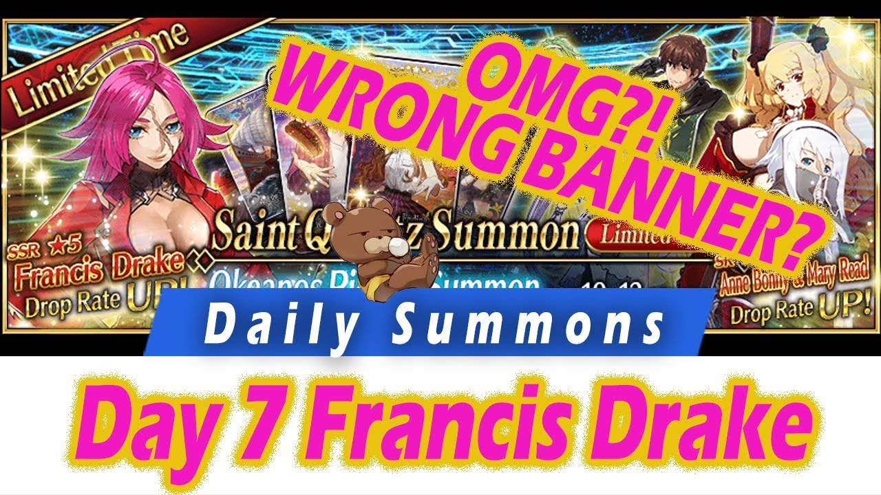 [FGO] OMG?! WRONG BANNER?! Daily Summons Challenge - Day 7 Okeanos Pickup -  Fate Grand Order