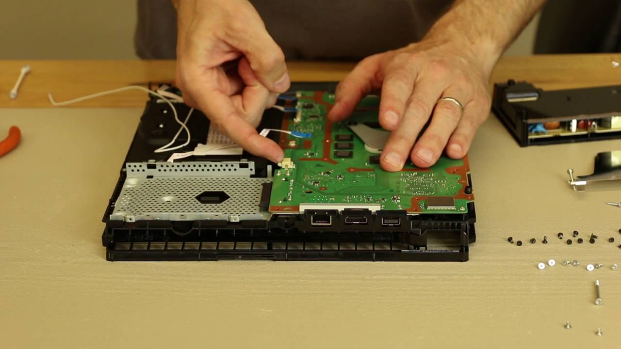 PS4 Slim Detailed Assembly - Thermal Paste Replacement