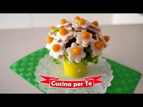 Antipasti Di Natale Fantasiosi.Bouquet Di Tramezzini Tutorial Antipasti Creativi Youtube
