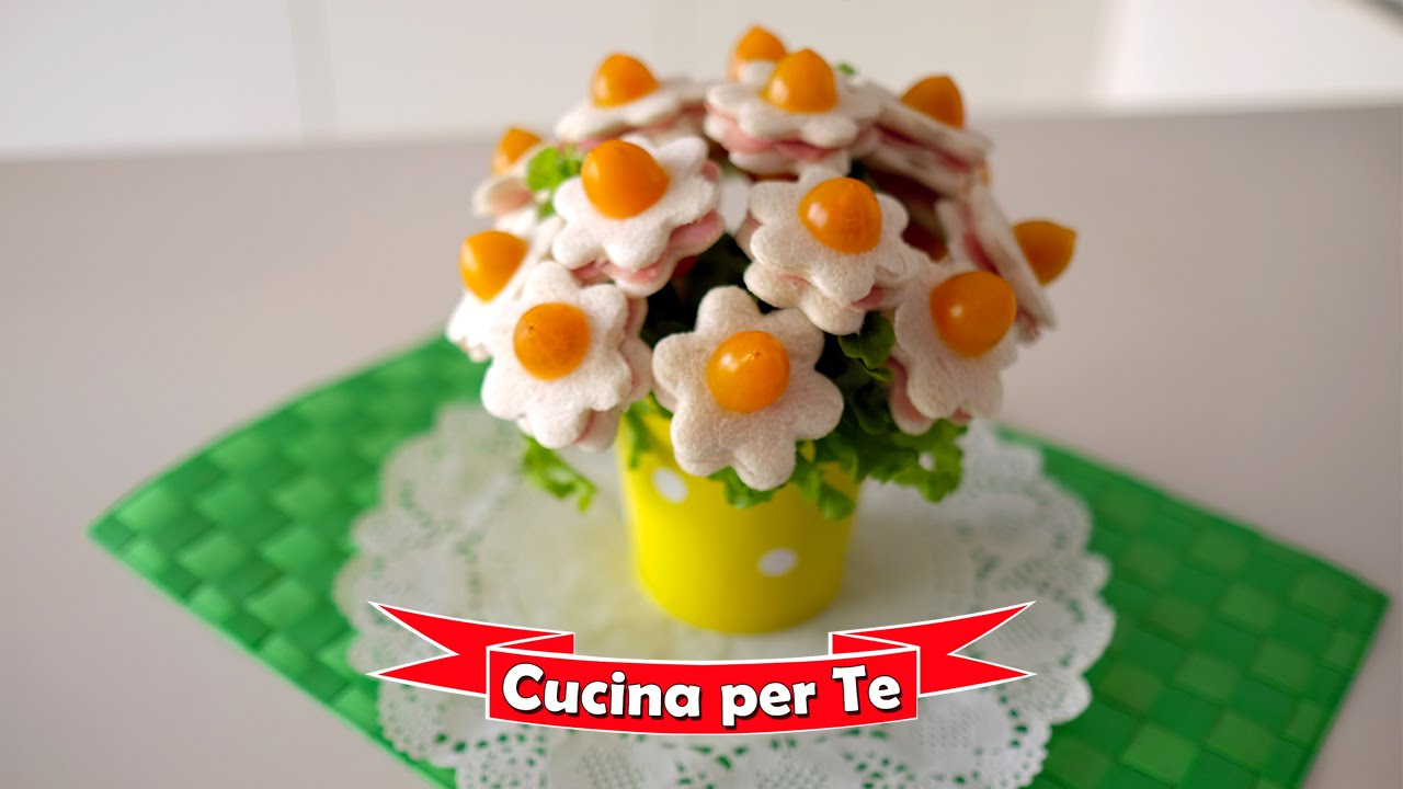 Antipasti Di Natale Fantasiosi.Bouquet Di Tramezzini Tutorial Antipasti Creativi Youtube
