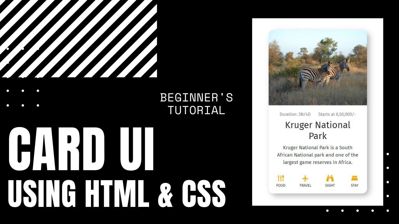 HTML & CSS Tutorial | Card UI Tutorial - Web Design Tutorial