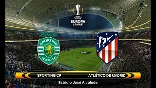 Sporting vs atletico madrid | uefa europa league 2018 | pes 2018 gameplay hd