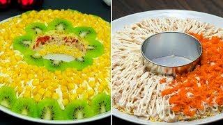 Красота! Ну очень аппетитный салат, замечательное дополнение к праздничному столу! | Appetitno.TV