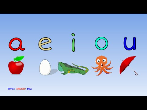 ♫ Fun and Fast Short Vowel Phonics Song aeiou with actions Grade 1♫