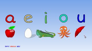 "♫ Fun and Fast Short Vowel Phonics Song ""aeiou"" with actions. (Grade 1)♫"