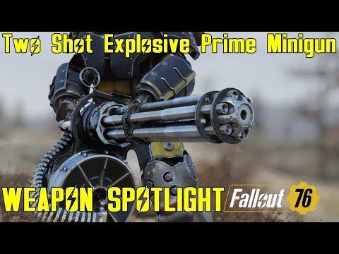 Fallout 76: Weapon Spotlights: Two Shot Explosive Prime Minigun thumbnail