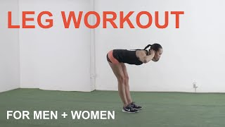 Repeat youtube video Leg Home Workout for Men and Women