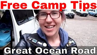 FREE CAMP TIPS | Great Ocean Road, Australia | VAN LIFE