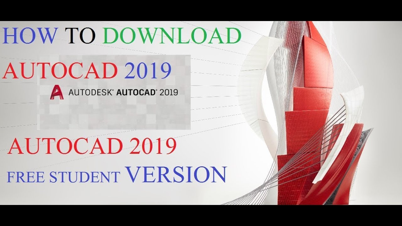 How to DOWNLOAD AUTOCAD 2019 FULL FREE VERSION 32/64 BIT VERSION