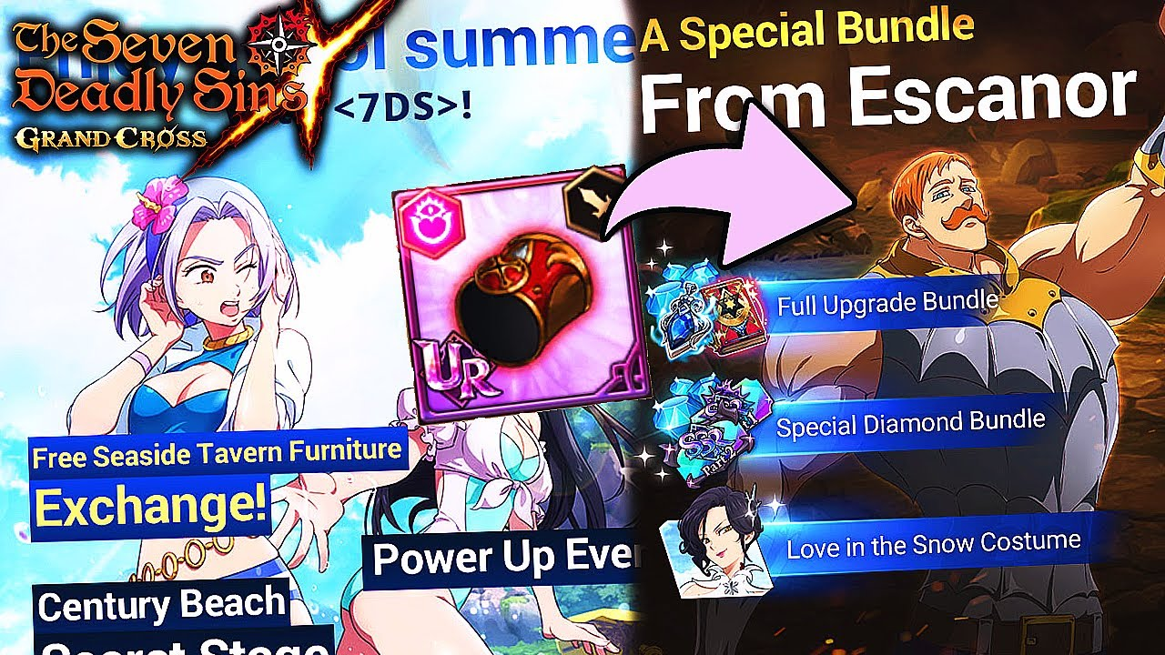 Download SUMMER EVENT AND UR GEAR FOR ESCANOR COMING!! FULL GLOBAL INFO!   Seven Deadly Sins: Grand Cross