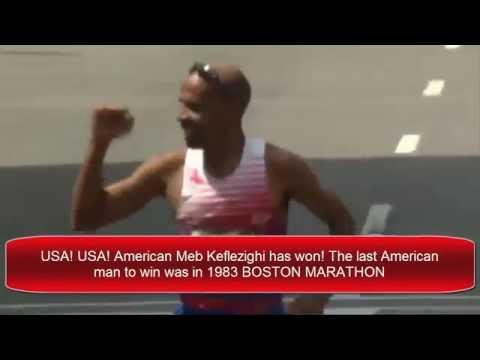 Meb Keflezighi WINS NYC Boston Marathon 2014   VIDEO