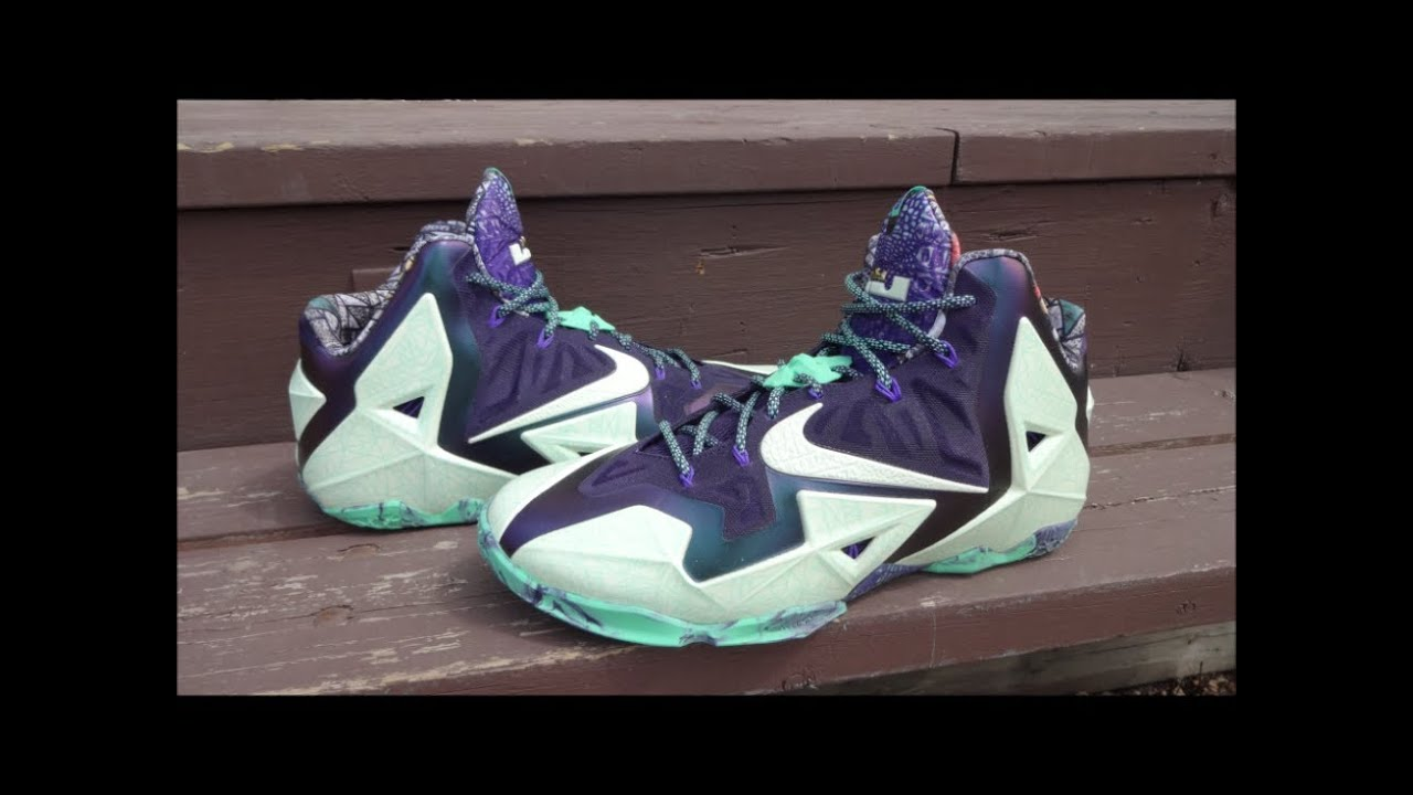 f0a3559f6568 Nike LeBron 11 ASG NOLA Gator King - Detailed Review - YouTube