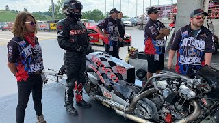 EPIC SHOWDOWN! TALENTED TOP FUEL NITRO HARLEY RACERS HAVE FATHERS DAY DRAG RACE to REMEMBER BRISTOL