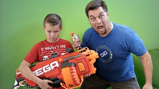 NERF WAR BATTLE!!   BAD KIDS VS BAD PARENTS!
