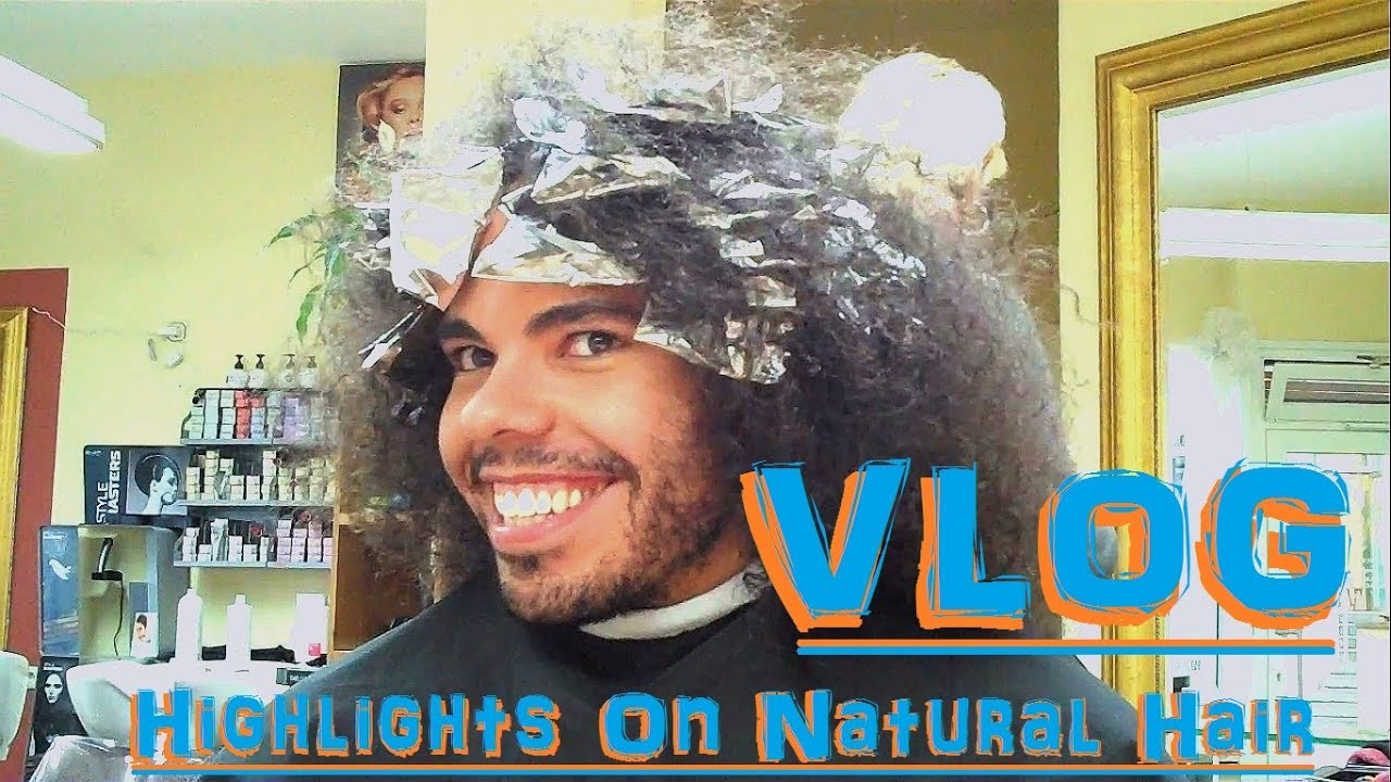 Vlog I Dyed My Curly Hair Highlights On Natural Hair