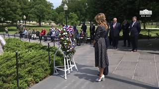 President Trump and The First Lady Participate in a Wreath Laying Ceremony