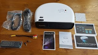 Unboxing and setup of a ExquizOn CL760 LED Projector with 3200 Lumen 1080P Full HD