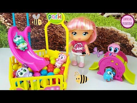 Parque para Ksi-Meritos Minis - Playset juguetes de bebés de las Barriguitas