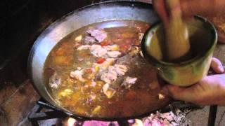 GAZPACHO MANCHEGO (hecho con leña) (Spanish Home Cooking: Don Quixote's lunch)