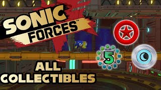 Sonic Forces - Stage 18 Chemical Plant - All Red Rings, Number Rings and Silver Moons