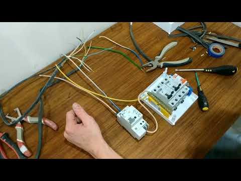установка и подключение автоматов