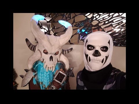 DIY Fortnite Ragnarock Costume , Skull Trooper,  Bright Bomber Inspired Costumes 2019 Halloween